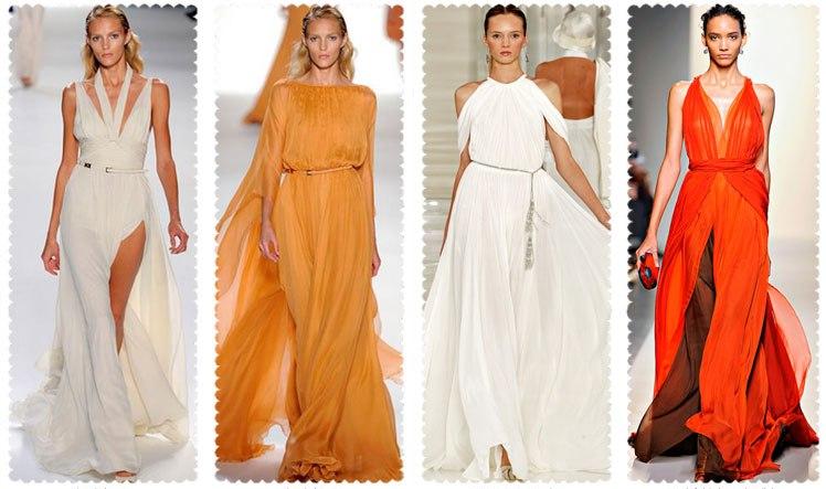Фасоны платьев в греческом стиле