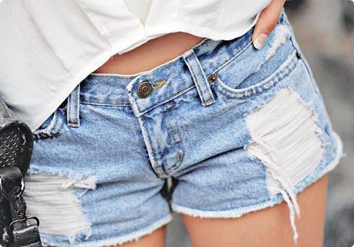 Как обрезать джинсы под шорты