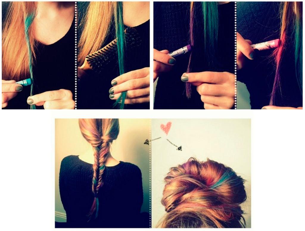Окрасить кончиков волос в домашних условиях
