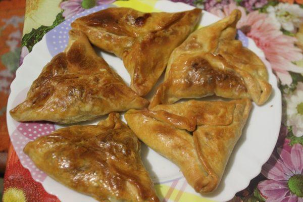 Фото приготовления рецепта: самса с тыквой - шаг № 14
