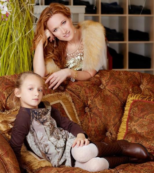 Мария Киселева с дочерью