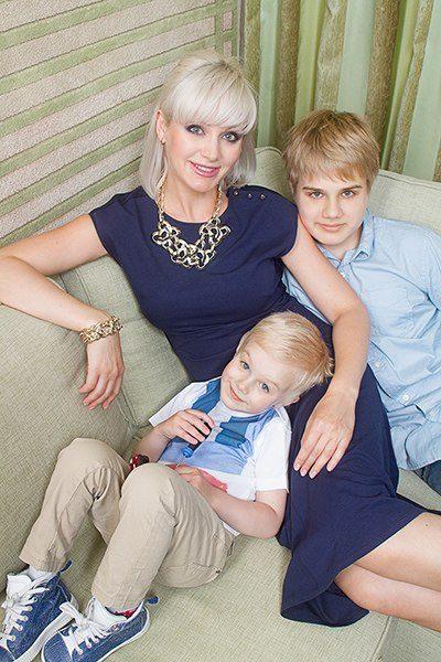 Натали с сыновьями