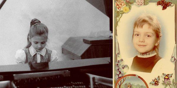 Марина Девятова в детстве