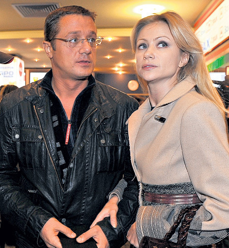 Мария Миронова с третьим мужем Алексеем Макаровым
