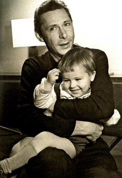 Олег Ефремов с сыном Михаилом