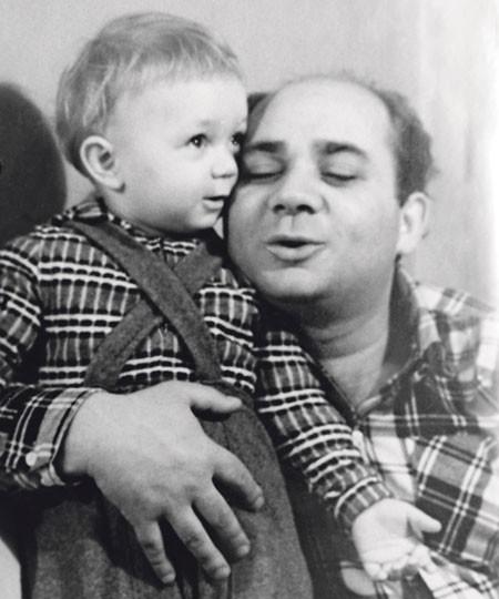Евгений Леонов с сыном Андреем