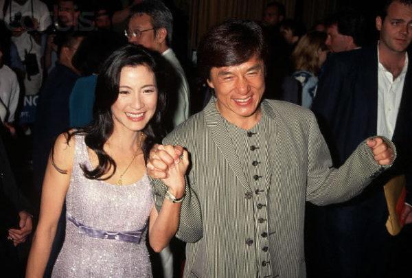 Джеки Чан и Лин Фэнцзяо