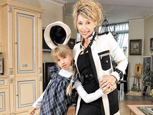 Елена Воробей с дочерью