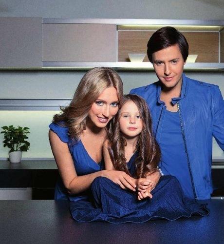 Витас с женой и дочерью