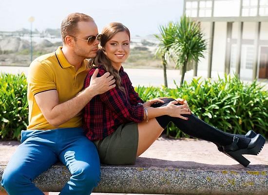 Юля Савичева с мужем