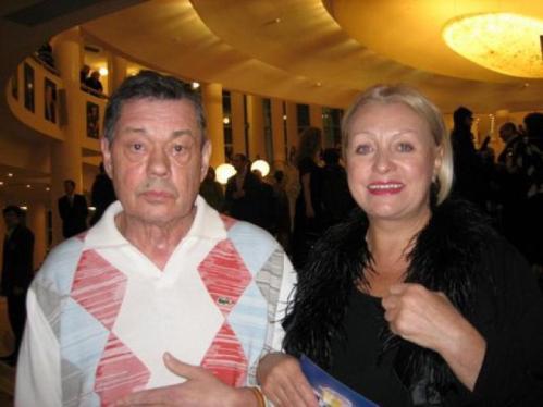 Николай Караченцов с женой