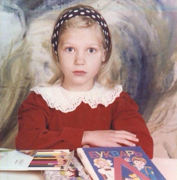 Кристина Асмус в детстве. Фото