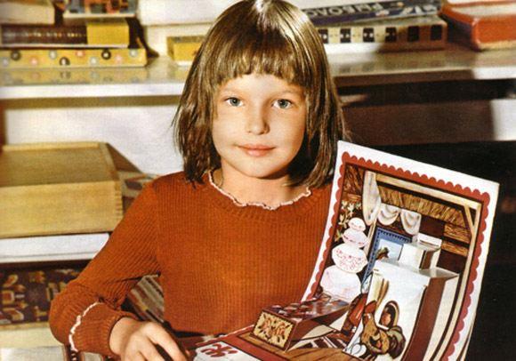 Анастасия Волочкова в детстве. Фото