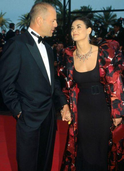 Актер Брюс Уиллис и его бывшая жена Деми Мур