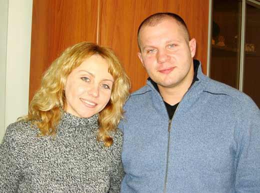 Федор Емельяненко с женой Оксаной