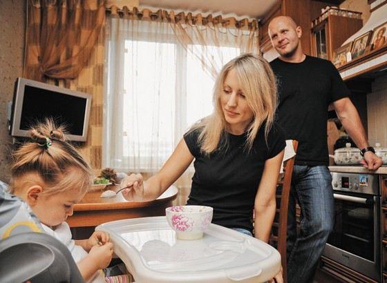 Федор Емельяненко со второй женой Мариной