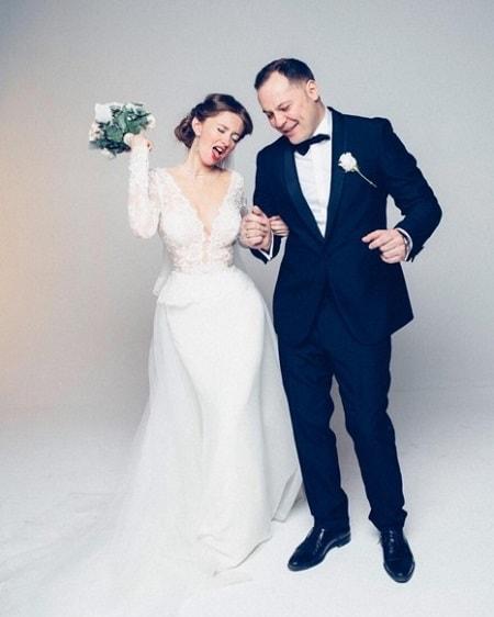 Наталья Костенева с мужем Вадимом. Фото