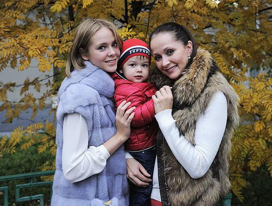 Ольга Кабо с детьми. Фото
