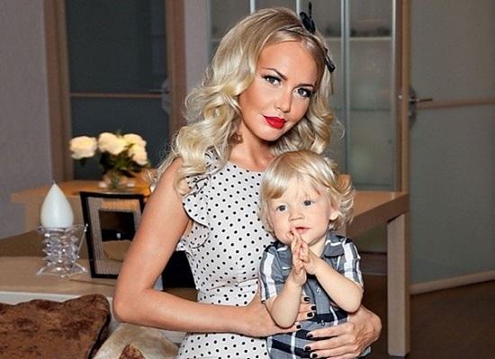 Маша Малиновская и сын Мирон
