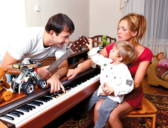 Ольга Дроздова с Дмитрием Певцовым и сыном
