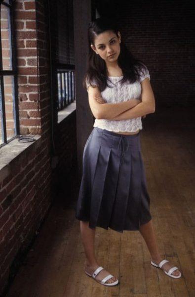 Актриса Мила Кунис в юности. Фото