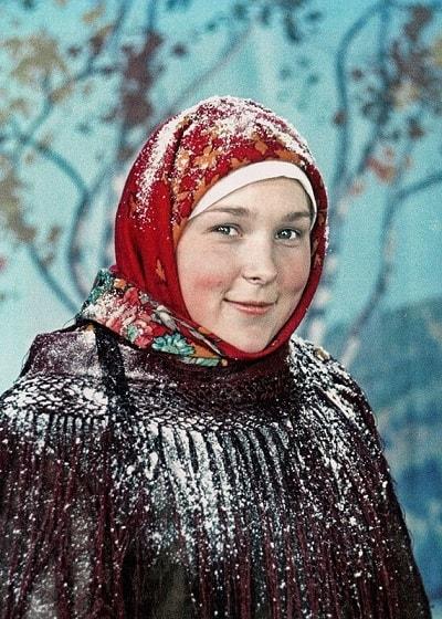 Вера Васильева в молодости