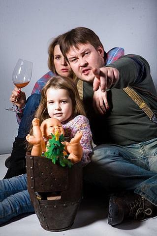 Наталья Семенихина с мужем и детьми