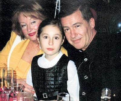Лариса Удовиченко и Геннадий Болгарин с дочерью Машей