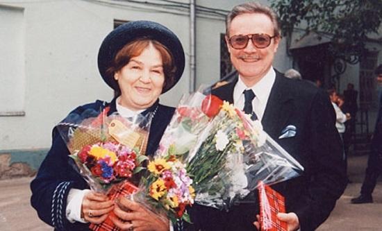 Юрий Соломин с женой Ольгой