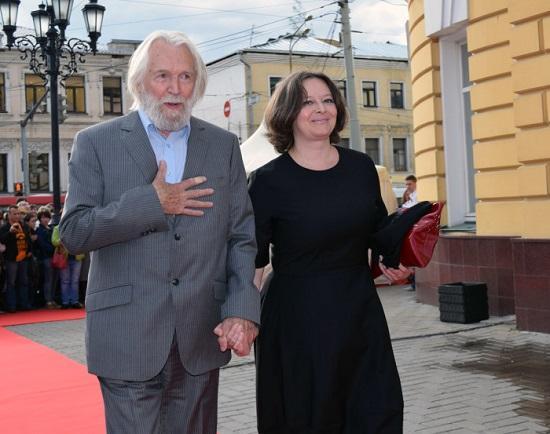 Станислав Любшин с женой Ириной