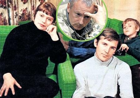 Станислав Любшин с женой Светланой и сын Юрой