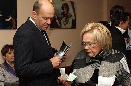 Галина Волчек с сыном Денисом