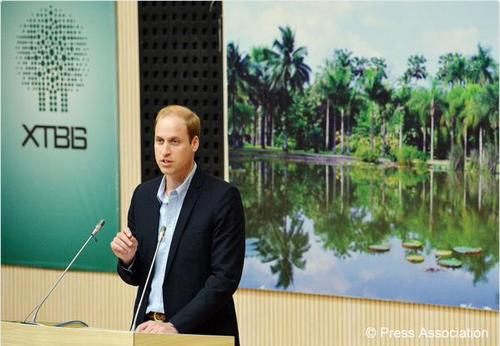 Принц Уильям выступит по китайскому телевидению с речью о защите дикой природы
