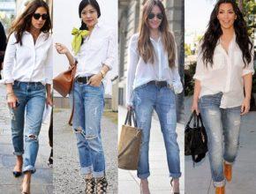 Как носить рубашку с джинсами