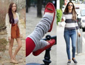 C чем носить женские мокасины