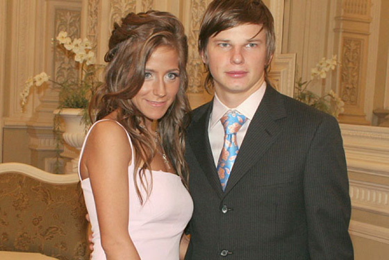 Юлия Барановская c Андреем Аршавиным
