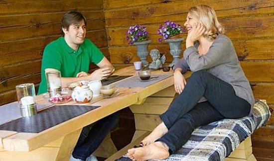 Анна Каменкова с сыном Сергеем