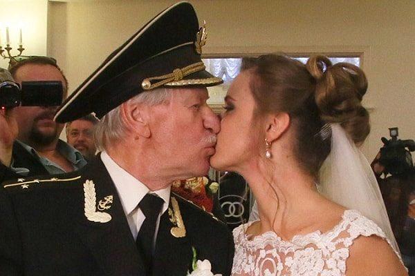 Иван Краско с женой Натальей. Свадьба.