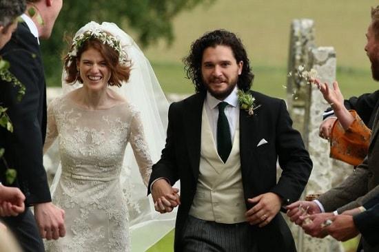 Кит Харингтон и Лесли Роуз. Свадьба